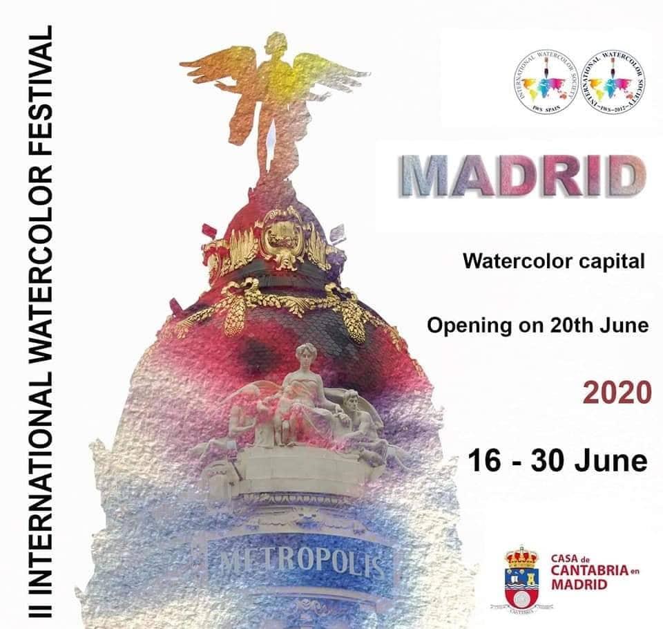 IWS日本支部がマドリッドでの国際水彩画展示会の参加公募をします。